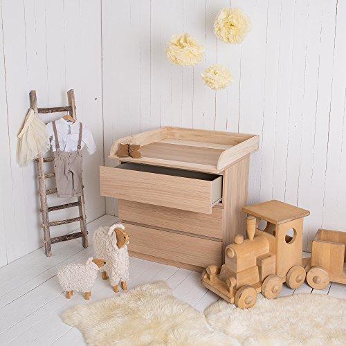 Puckdaddy Naturholz Wickelaufsatz für alle IKEA Malm Kommoden