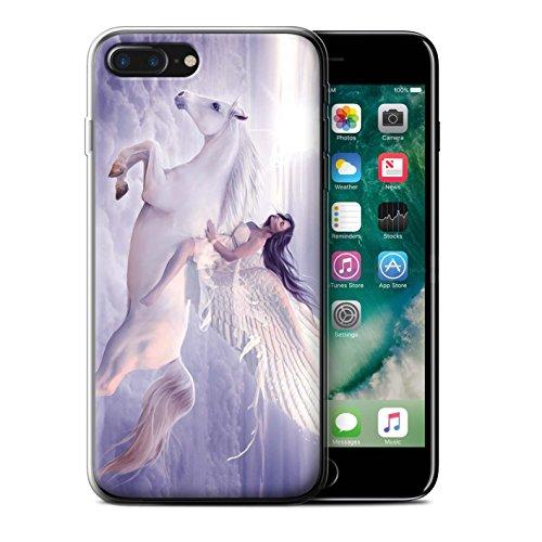 Officiel Elena Dudina Coque / Etui Gel TPU pour Apple iPhone 7 Plus / Robe Air Design / Fantaisie Ange Collection Je Peux Voler