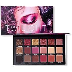 Eyeshadow Palette,ROMANTIC BEAR 18 Couleurs Twilight & Dusk Ombre À Paupières Maquillage Palette Chaude Matte Glitter Oeil Ombres Palette Naturel Longue Durée Cosmétique (A)