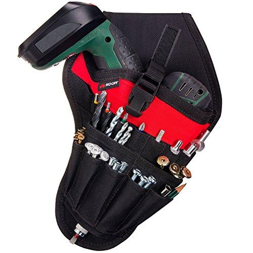 NoCry Werkzeughalter für Akkuschrauber | Werkzeuggürtel mit Platz für Zubehör und offenen...