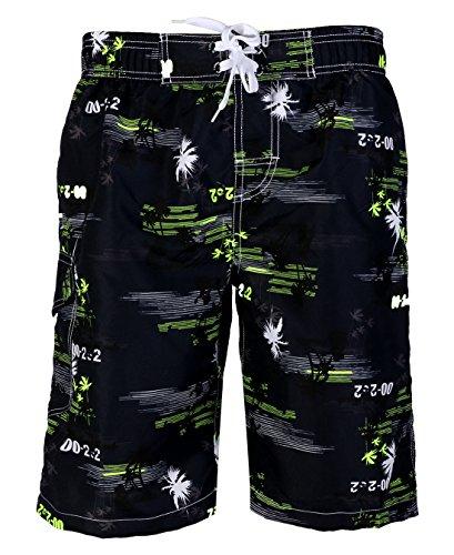 APTRO-Mens-Quick-Dry-Board-Shorts-Printed-Palm-Beach-Swim-Wear