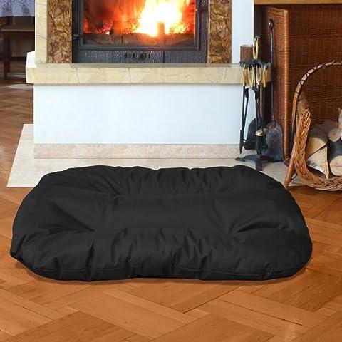 BedDog REX, Noir, XXL 95x65 cm,Panier corbeille, lit pour chien, coussin de chien