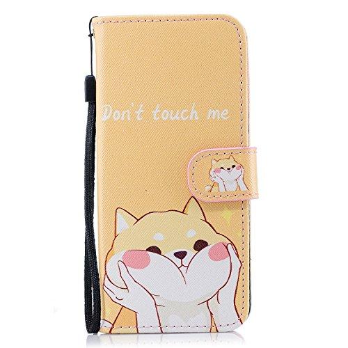 Galaxy S9-Fall, für [S9], merkuyom [Handschlaufe] [Standfunktion] Premium PU Leder Wallet Tasche [Karte] Flip Case Schutz Hülle für Samsung Galaxy S9, W/Stylus, Yellow Naughty Cat (Handy T-mobile Für Freigeschaltet)