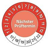 Avery Zweckform 6928 Prüfplaketten durchmesser 30 mm, 10 Bogen/80 Etiketten, rot