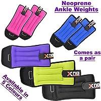 Neoprene Ankle Weights Velcro Black Pink Adjustable Resistant Leg Wrist Strap Running Cross Fitness Gym Training Exercise