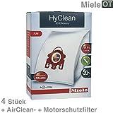 Staubfilter Staubsauger 4 HyClean3D Efficiency-Filterbeutel +1 Air Clean Filter +1 Motorschutzfilter Typ FJM Original Miele 9917710 für S300er S500er S200er S700er CAT&DOG ELECTRONIC TANGO YOUNGSTYLE