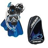 #4: CRESSI Palau Bag Set | Complete Snorkeling Kit | Fins + Mask + Snorkel | Unisex