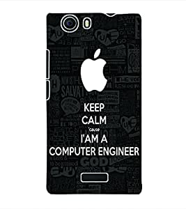 Fuson 3D Printed Computer Engineer Wallpaper Designer Back Case Cover for Micromax Canvas Nitro 2 E311 - D675