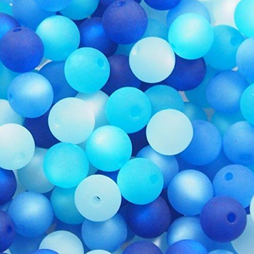 20 Stück echte original Polarisperlen Perlenmix Perlenmischung Perlen Perlenset 8 mm, blau, Perlen aus deutscher Produktion (Blaue Kunststoff-perlen-halskette)