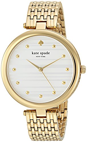 Kate Spade New York Women's 'Varick' Quartz Stainless Steel Casual Watch, Color Gold-Toned (Model: KSW1412)