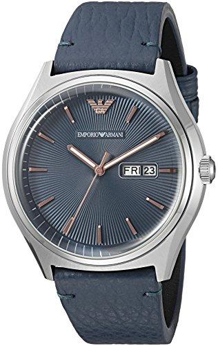 Emporio Armani Men's AR1978 Dress Blue Leather Watch