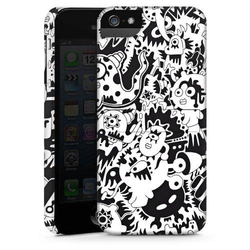 Apple iPhone 6 Housse Étui Silicone Coque Protection Pieuvre Noir blanc Créatures CasStandup blanc