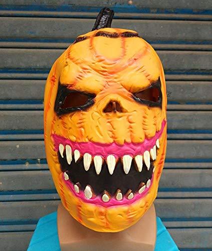 Rwdacfs Masken für Erwachsene,Halloween Cosplay Kürbis Ghost Maske Bar Tanz lustig