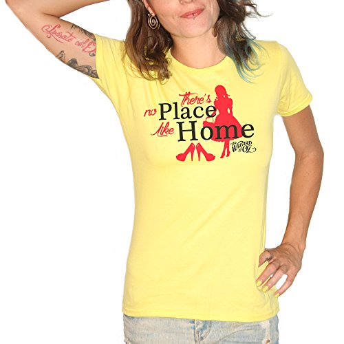 T-shirt There's No Place Like Home The Wizard of Oz–by Brain Factory jaune