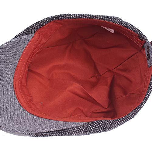 Imagen de boina de los hombres,sombrero masculino casual vintage al aire libre clásico,sombrero de copa plano negro puro de algodón,ajustable, tamaño 55 60cm. alternativa