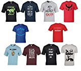 #10: Zacharias Pack of 10 Assorted Prints Casual Multicoloured Round Neck T-Shirt