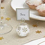 Neviti - Segnaposto natalizi a sfera, decorazioni dorate, 6 pz