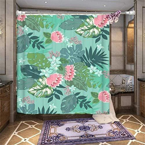 willsego tende di poliestere doccia personalità stampa 3d sigillatura digitale e decorazione di piante di muffa polverosa il taglio della cortina d'aria, 6 esposto a tende per tende bains 180 * 200cm