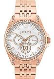 JETTE Time Damen-Armbanduhr Existence Analog Quarz One Size, Perlmutt, rosé