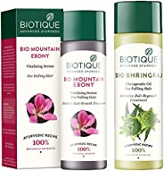 Biotique Bio Mountain Ebony Vitalizing Serum For Falling Hair Intensive Hair Growth Treatment, 120ML and Biotique Bio Bhringraj Fresh Growth Therapeutic Oil, 120ml