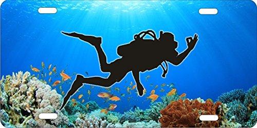 ATD Design LLC Neuheit Nummernschild Coral Reef Scuba Diver -