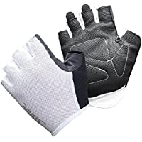 Trendyest Guantes para motorista 1 par de dedos transpirables antideslizantes Gimnasio Fitness Levantamiento de pesas Medio dedo (7)