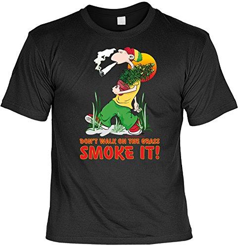 Unbekannt Witziges Sprüche Fun T-Shirt : Done walk on the gras - smoke it!
