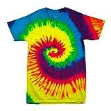 Colortone - Unisex Batik T-Shirt 'Rainbow' / Rainbow, L