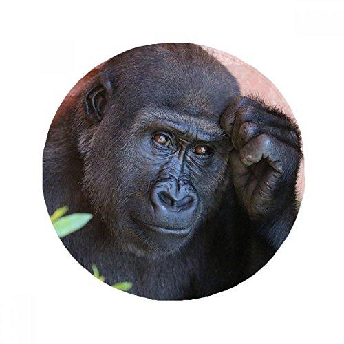 DIYthinker Terrestrial Organismus Wildtier Schimpanse Anti-Rutsch-Boden Haustier-Matten Runde Badezimmer Wohnzimmer Küche Tür 60 / 50cm Geschenk 50X50Cm Mehrfarbig -