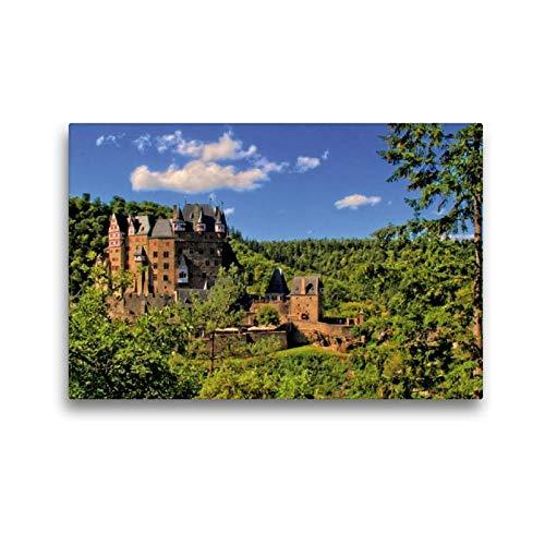 Calvendo Premium Textil-Leinwand 45 cm x 30 cm quer, Burg Eltz   Wandbild, Bild auf Keilrahmen, Fertigbild auf echter Leinwand, Leinwanddruck Orte Orte