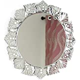 IndianShelf Handmade Clear Glass Round Cut Wall Venetian Mirror (SVM-32)