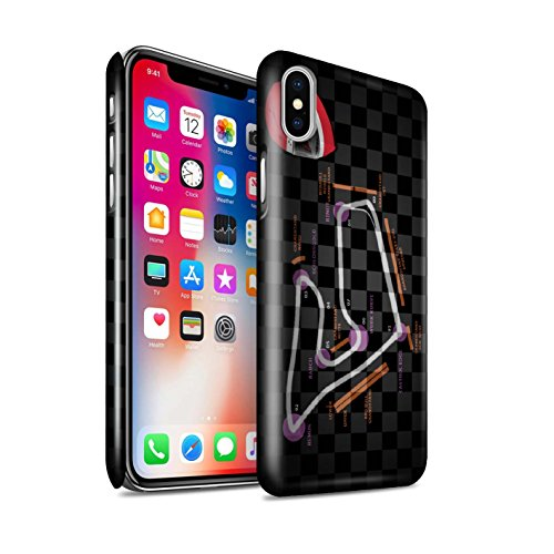 STUFF4 Glanz Snap-On Hülle / Case für Apple iPhone X/10 / Belgien/Spa Muster / 2014 F1 Piste Kollektion Österreich/Spielberg