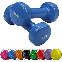BB Sport 2 x pesas de vinilo 0,5-5 kg mancuernas set en colores diferentes, Peso:2 x 5 kg