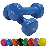 2 x haltère en vinyle 0,5 - 5 kg en vinyle-haltère Workout with dumbbells is known as one of the most efficient sports and is perfectly suitable to build up and maintain muscle strength not only in your arms, but also in your chest and back. The...