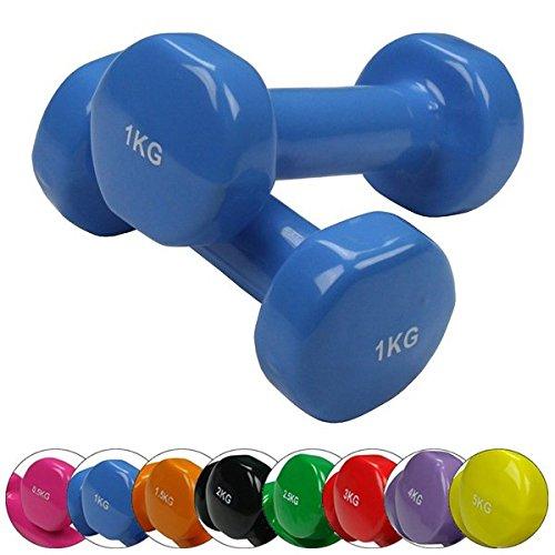 BB Sport 2 x Vinylhantel 0.5 kg - 5 kg Vinyl Hantel Set, Gewicht:2 x 3 kg