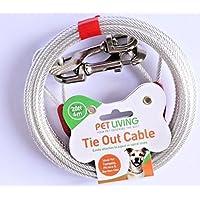 Pet Living Cable de Alambre para Atar a los Perros DE 20 pies