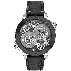 s.Oliver Herren-Armbanduhr XL Analog Quarz Leder SO-2948-LQ