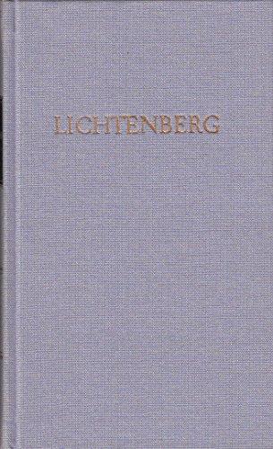 Lichtenbergs Werke in einem Band (Bibliothek deutscher Klassiker)