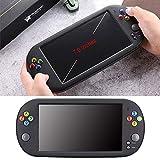 Fuitna Handspielkonsole, PSP X16 Klassischer Retro-Gaming-Player mit 7-Zoll-HD-Handheld-BA-Arcade-Spiel NES FC