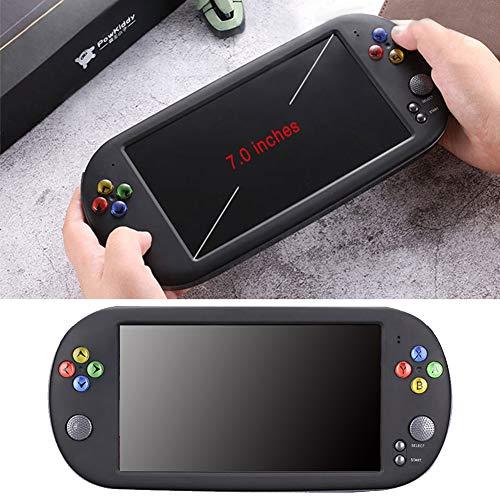 Fuitna Handspielkonsole, PSP X16 Klassischer Retro-Gaming-Player mit 7-Zoll-HD-Handheld-BA-Arcade-Spiel NES FC X16