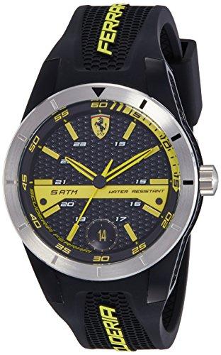 Scuderia Ferrari Orologi Herren-Armbanduhr Red Rev T Analog Quarz Silikon 0830277