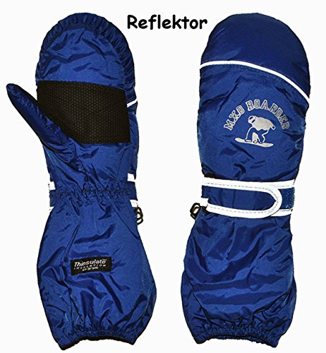 Unbekannt Thermohandschuh / Fausthandschuhe – mit langem Schaft –  dunkel blau  – Größe: 1 bis 2 Jahre – Reflektor ! _ wasserdicht + atmungsaktiv Thinsulate – Thermo .. | 04050677604755