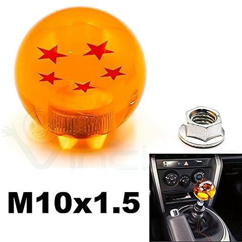 Schaltknauf manuell Kugel Drache 5Sterne Rotation Auto M10Dragon Ball