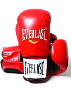 Everlast Fighter - Guantes de boxeo, color rojo/negro, talla 14oz