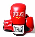 Everlast, Guanto da Training Leather Boxing Guanti Fighter, Rosso (Red/Black), 14 Once