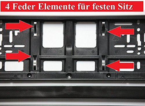 2 x Kennzeichenhalter SCHWARZ Kennzeichenhalterung im Set mit 4 Befestigungsschrauben + Montageanleitung + neue KFZ Schein Schutzhülle *** alles Neu & OVP ***TOP ANGEBOT*** - 5