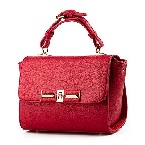 Petit épaulement ceinture sacs en bandoulière boucle vague mode frais boîte petit PU cuir housses de sacs à main femmes couleur unie Party Pack