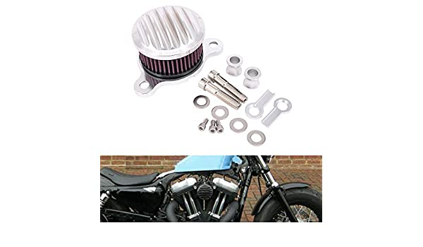 AnXin Air Cleaner Intake Filter System Kit Compatible With Sportster XL883 XL1200 48 72 1991-2017 Motorcycle White