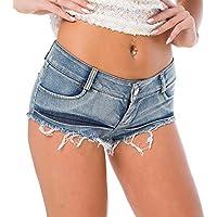 Onfly Pantaloncini Jeans Donna a Vita Bassa Sexy Solido Fibbia della  Cintura Cava Mini Denim Pantaloni 9150920bd15