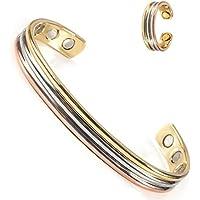 Magnetische Kupfer Armbänder Ring Set für Frauen Damen Arthritis Kleine mit Magneten Tri Ton 6,5 '' Schmuck (CPB... preisvergleich bei billige-tabletten.eu